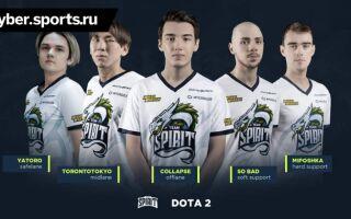 Team Spirit анонсировала новый состав по Dota 2